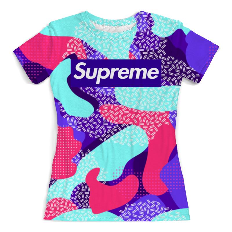 Футболка с полной запечаткой (женская) Printio Supreme футболка мужская supreme ny yankees supreme box tee