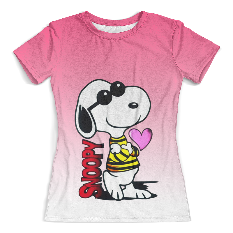 все цены на Футболка с полной запечаткой (женская) Printio Snoopy