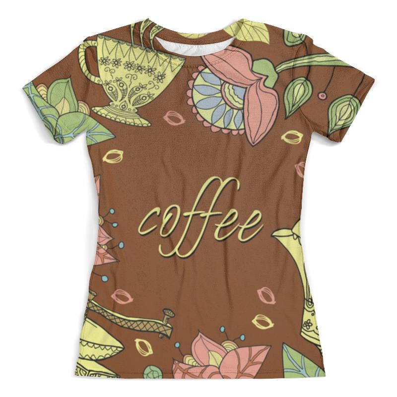 Футболка с полной запечаткой (женская) Printio Я люблю кофе футболка классическая printio я люблю кофе