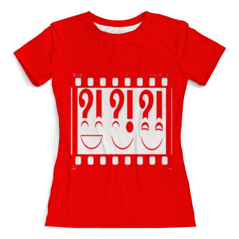 Фото - Футболка с полной запечаткой (женская) Printio Красное восклицание футболка с полной запечаткой женская printio смайлики