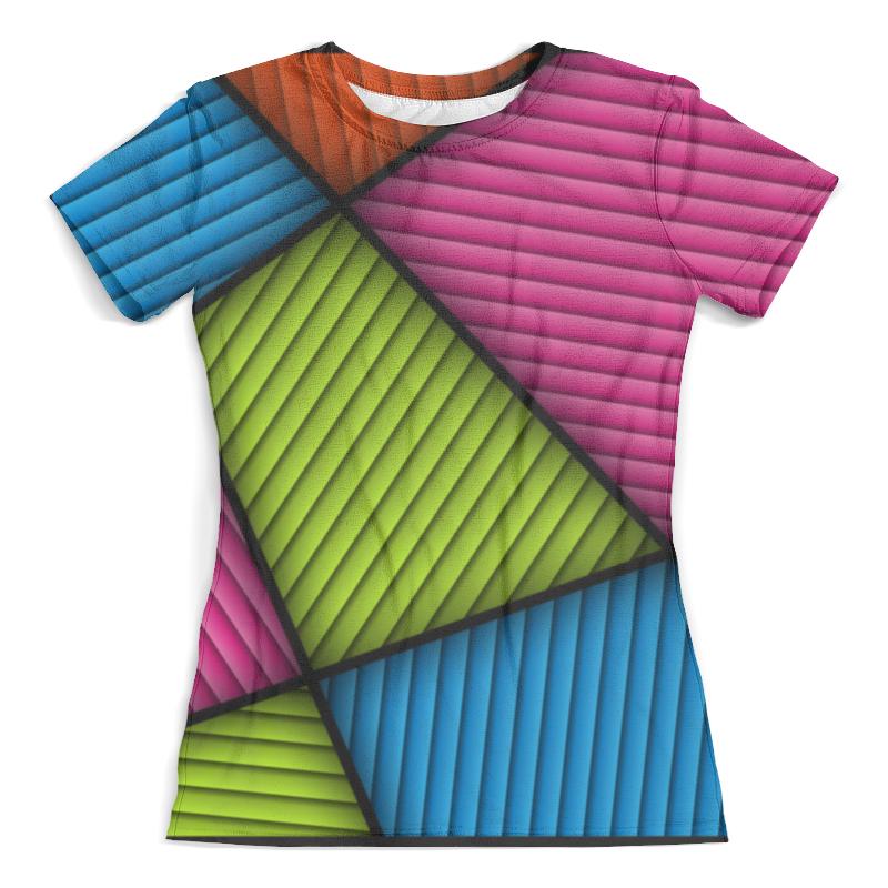 Футболка с полной запечаткой (женская) Printio Цветная абстракция цена