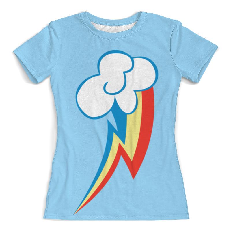 Футболка с полной запечаткой (женская) Printio Rainbow dash / рейнбоу дэш футболка стрэйч printio rainbow dash рейнбоу дэш