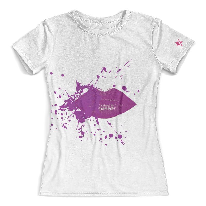 Футболка с полной запечаткой (женская) Printio Стиль арт-фэшн color: plum lips футболка женская roxy boyfriendstella j tees italian plum