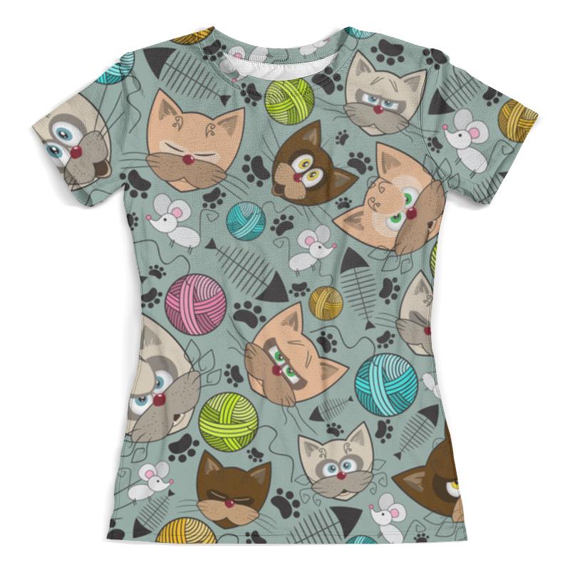 Футболка с полной запечаткой (женская) Printio Кошки мышки футболка для беременных printio кошки не дети