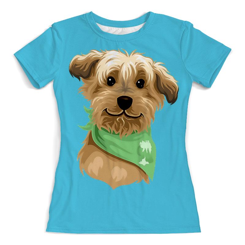 Футболка с полной запечаткой (женская) Printio Собачка в платочке (1) футболка с полной запечаткой женская printio хипповая собачка 1
