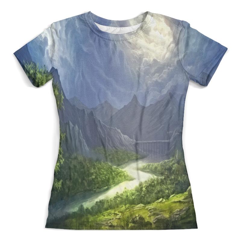 Футболка с полной запечаткой (женская) Printio Пейзаж красками футболка с полной запечаткой для девочек printio пейзаж красками