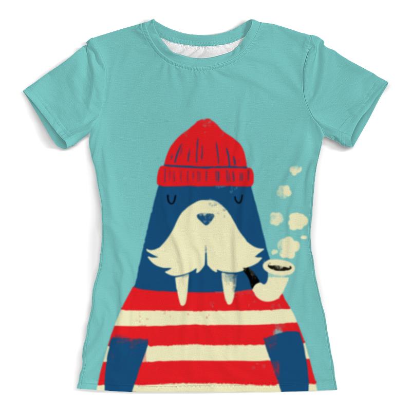 Футболка с полной запечаткой (женская) Printio Морж-моряк футболка с полной запечаткой женская printio бывалый моряк