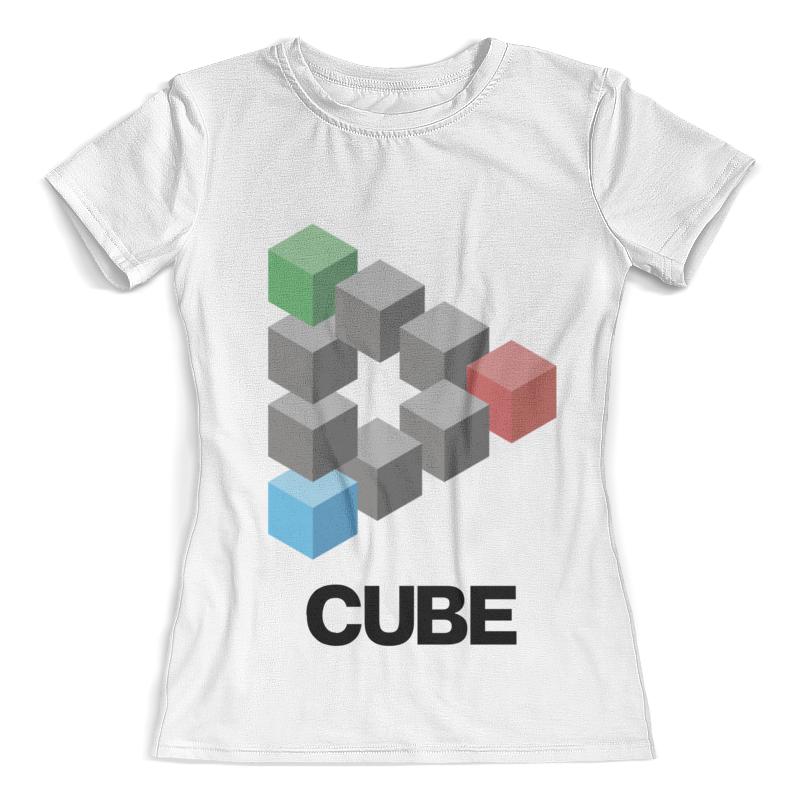 Футболка с полной запечаткой (женская) Printio Symbol cube футболка cube sugar t vip