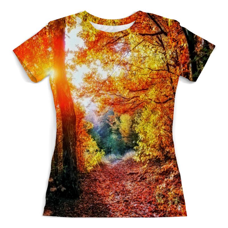 Футболка с полной запечаткой (женская) Printio Осенний пейзаж футболка с полной запечаткой женская printio осенний букет