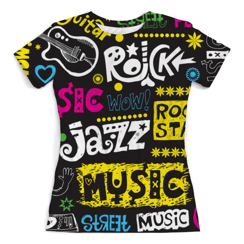 Футболка с полной запечаткой (женская) Printio Music (1) футболка с полной запечаткой женская printio ритм 1 робер делоне