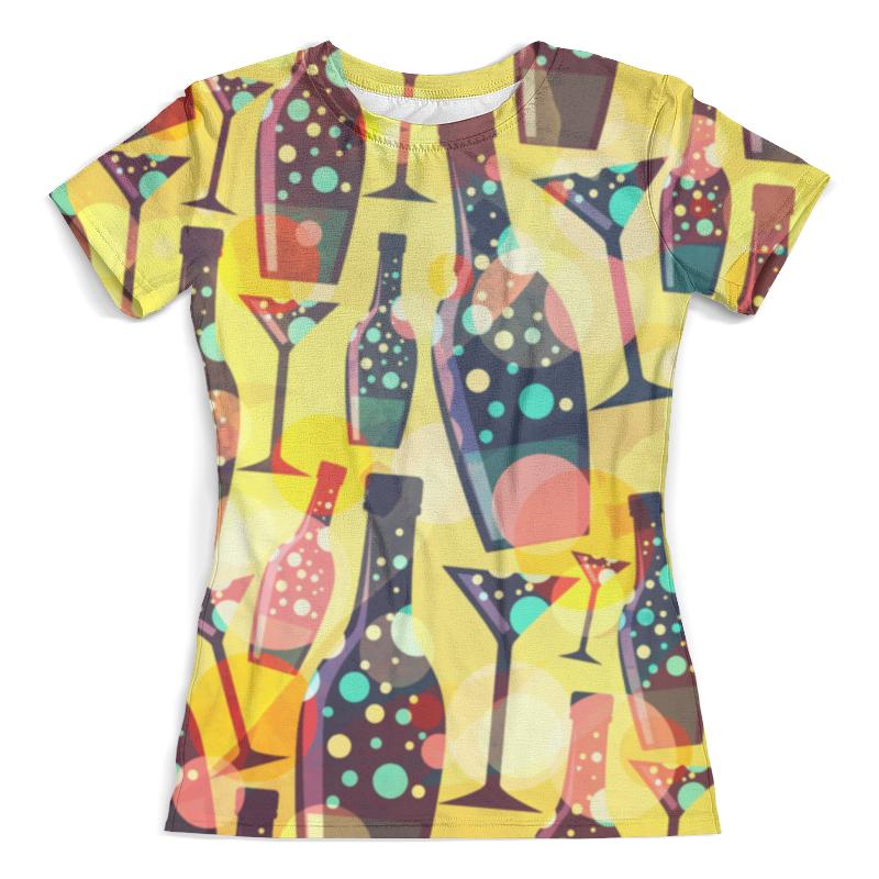 Футболка с полной запечаткой (женская) Printio Для вечеринок (бутылки) женская одежда для спорта