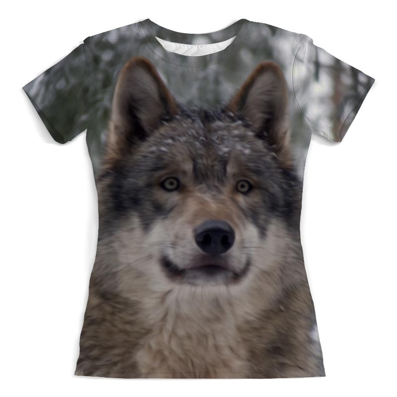 Футболка с полной запечаткой (женская) Printio Волк в лесу футболка с полной запечаткой мужская printio красная шапочка и серый волк 3