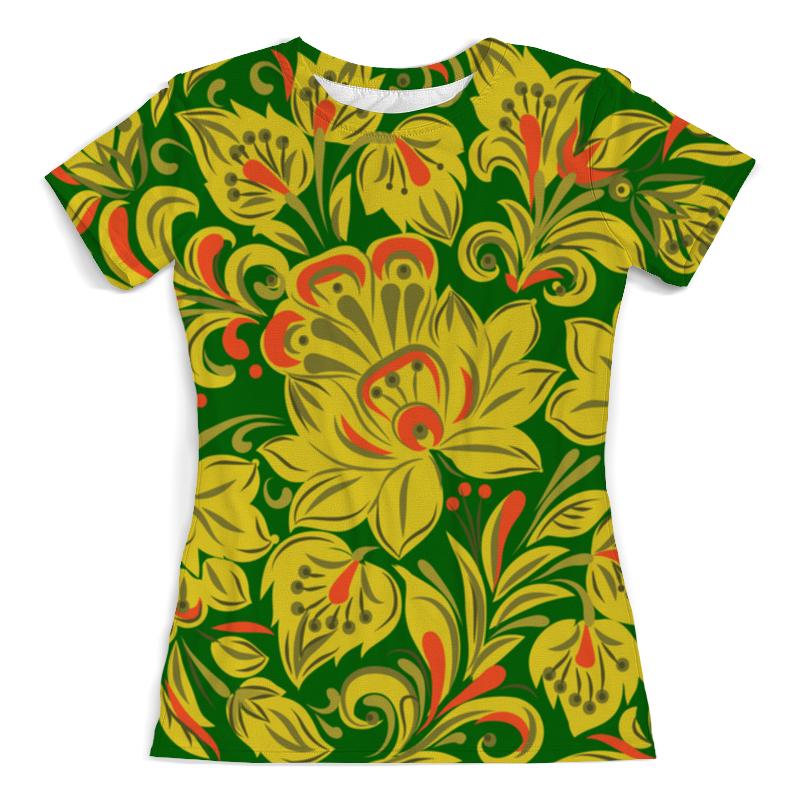 Футболка с полной запечаткой (женская) Printio Расписные цветы футболка с полной запечаткой женская printio расписные узоры