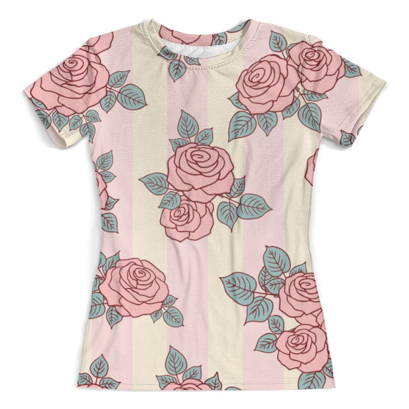 Футболка с полной запечаткой (женская) Printio Розовые розы майка print bar розовые розы