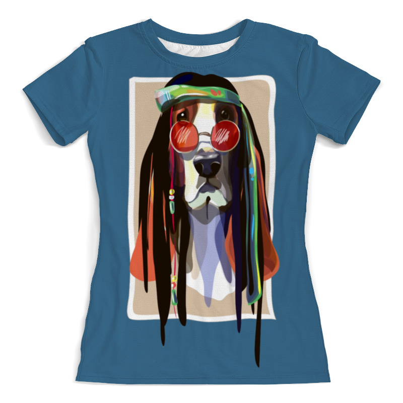 Футболка с полной запечаткой (женская) Printio Хипповая собачка футболка с полной запечаткой женская printio хипповая собачка 1