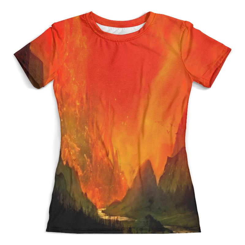 Футболка с полной запечаткой (женская) Printio Пламенный закат футболка с полной запечаткой для мальчиков printio пламенный закат