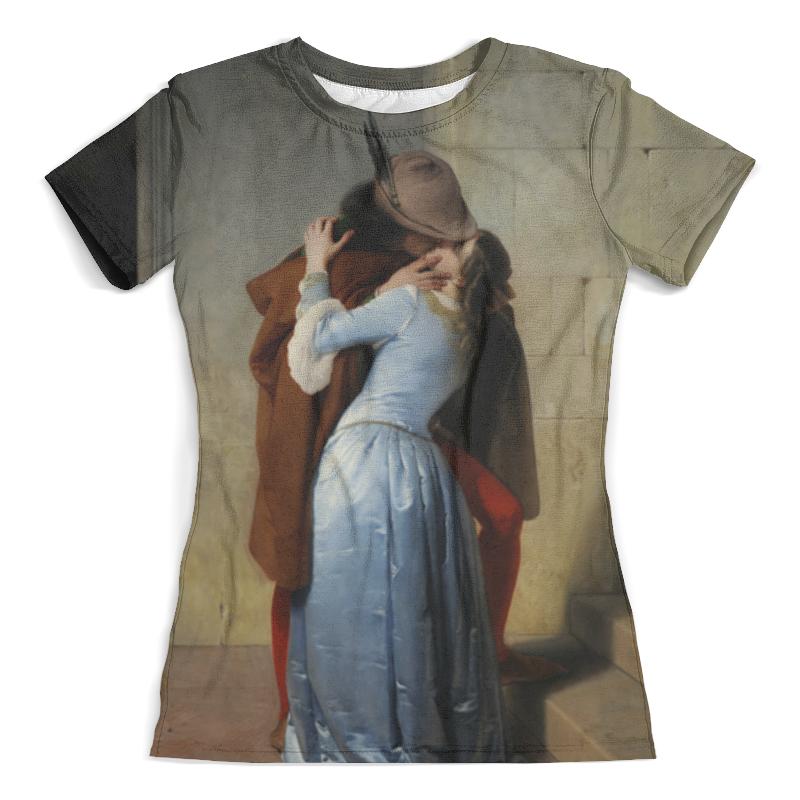 Футболка с полной запечаткой (женская) Printio Поцелуй (франческо айец) тетрадь на скрепке printio поцелуй франческо айец