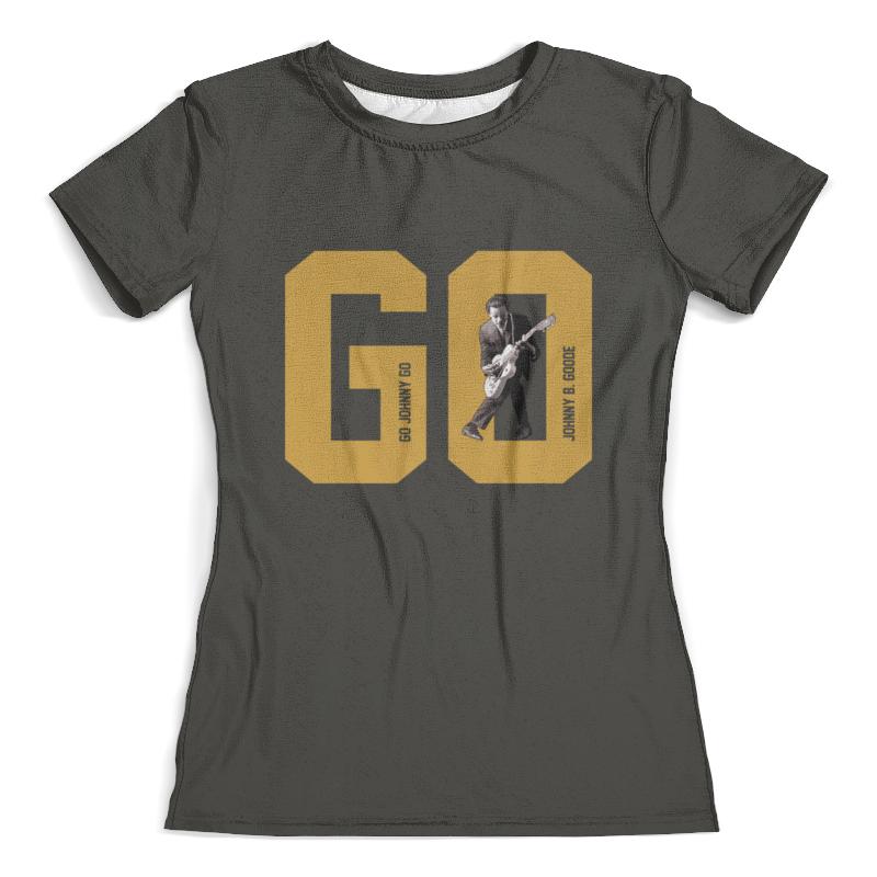 Футболка с полной запечаткой (женская) Printio Go, go johnny go! go go go go go017awgsv28