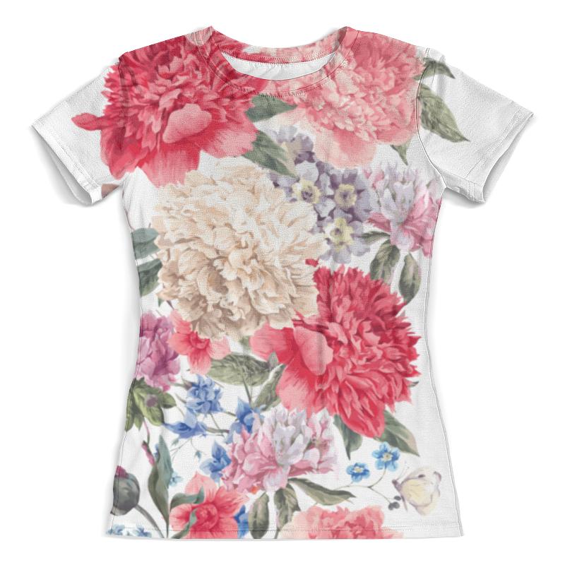Футболка с полной запечаткой (женская) Printio Летние цветы футболка с полной запечаткой женская printio воздушные шары
