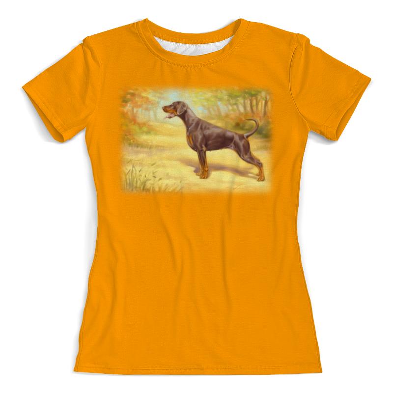 Футболка с полной запечаткой (женская) Printio Пейзаж с доберманом футболка с полной запечаткой printio аниме пейзаж