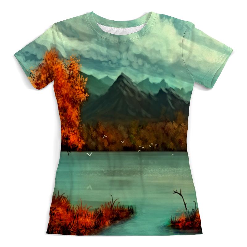 Футболка с полной запечаткой (женская) Printio Осень в горах борцовка с полной запечаткой printio осень в горах