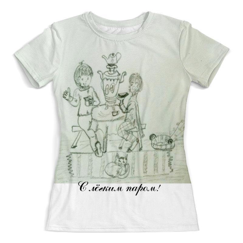 Футболка с полной запечаткой (женская) Printio Отдых. баня. чай. футболка с полной запечаткой женская printio на отдых