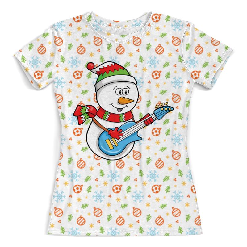Футболка с полной запечаткой (женская) Printio Снеговик с гитарой (новый год) футболка с полной запечаткой женская printio battlefield v