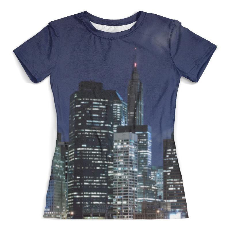 Футболка с полной запечаткой (женская) Printio Ночной город футболка с полной запечаткой женская printio дубай город