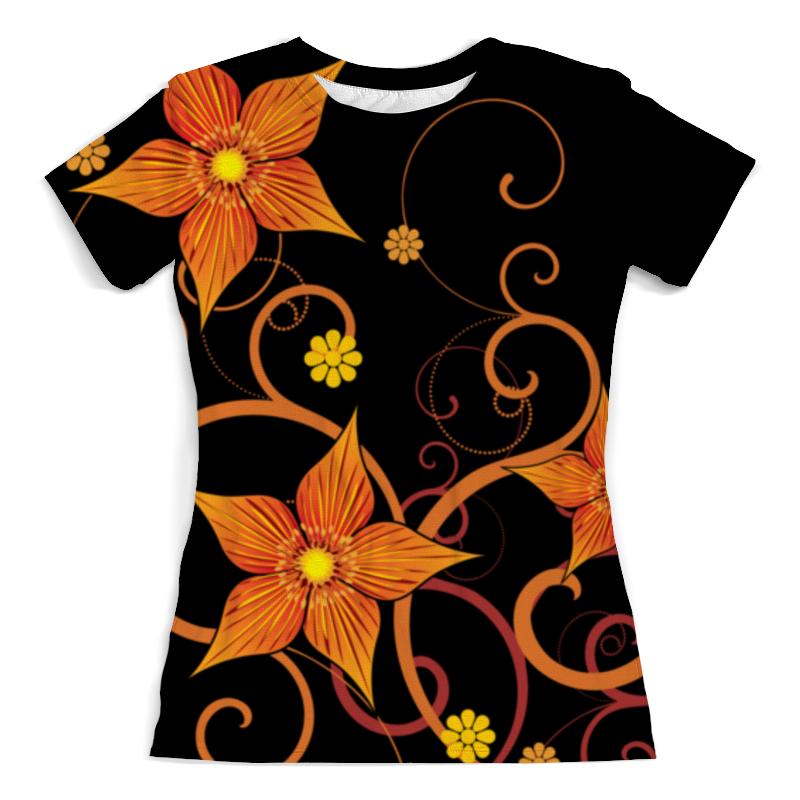 Футболка с полной запечаткой (женская) Printio Цветочная футболка с полной запечаткой женская printio цветочная абстракция