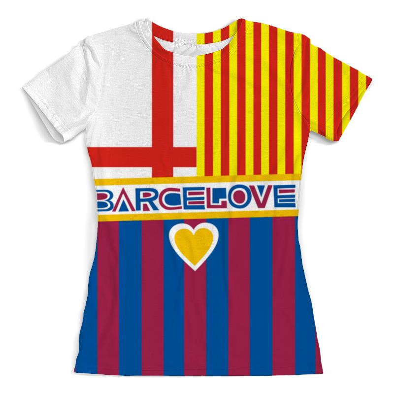 Футболка с полной запечаткой (женская) Printio Барселона футболка с полной запечаткой женская printio миньон