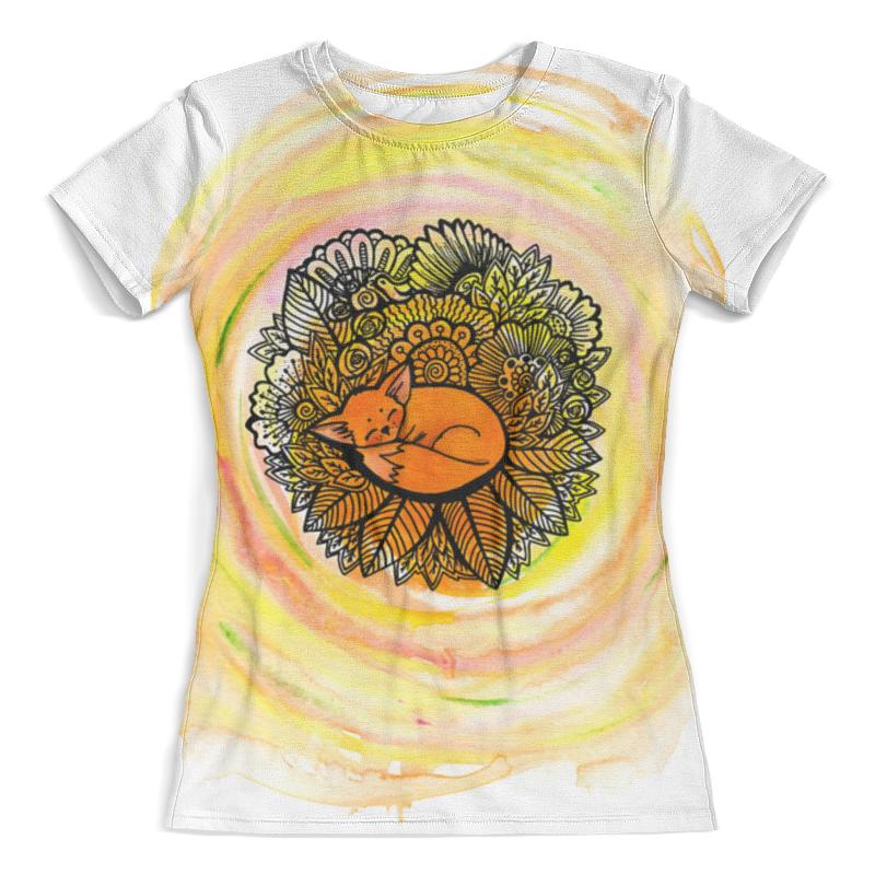 Футболка с полной запечаткой (женская) Printio С лисой футболка с полной запечаткой женская printio воздушные шары