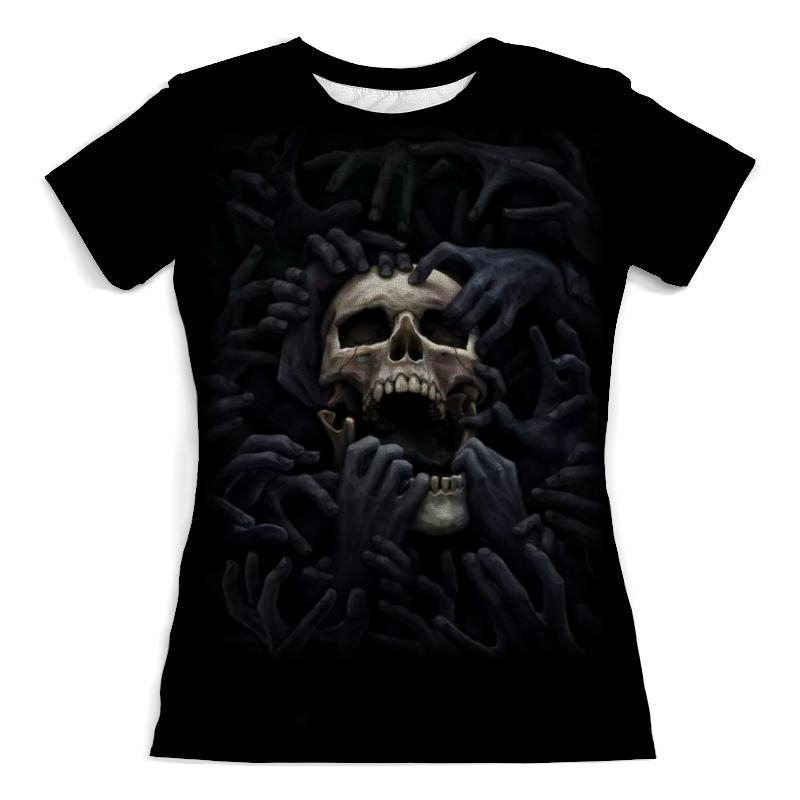 Футболка с полной запечаткой (женская) Printio Skull art футболка с полной запечаткой для девочек printio skull art