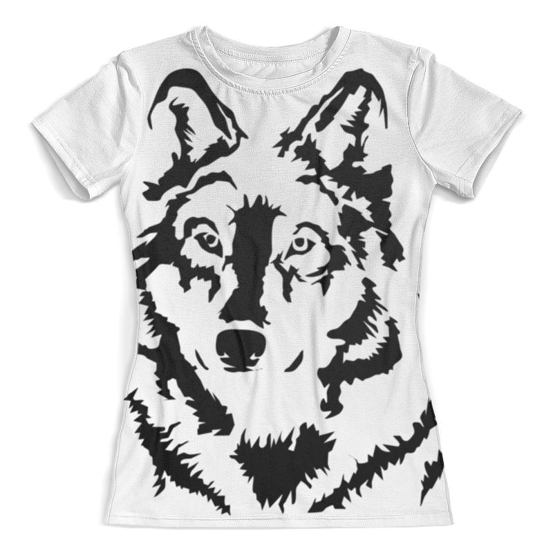 Футболка с полной запечаткой (женская) Printio Тату волк футболка с полной запечаткой мужская printio красная шапочка и серый волк