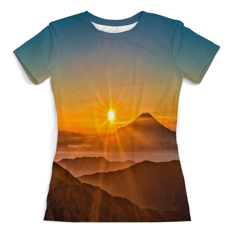 Printio Закат в горах футболка с полной запечаткой женская printio крепость в горах