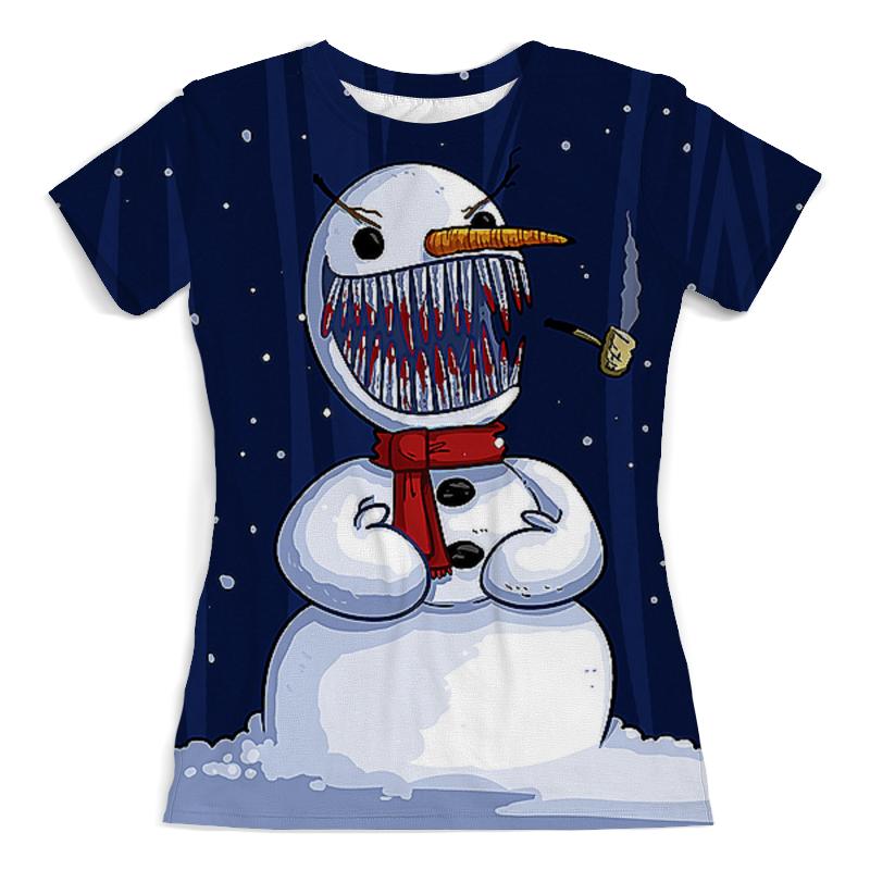 Футболка с полной запечаткой (женская) Printio Безумный снеговик (1) футболка с полной запечаткой женская printio ритм 1 робер делоне
