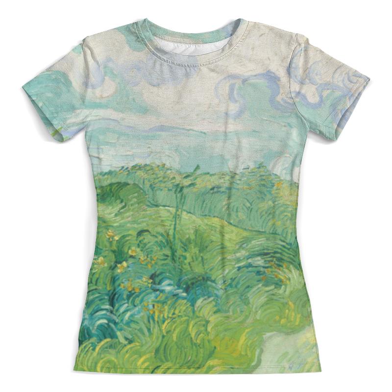 Футболка с полной запечаткой (женская) Printio Зеленые поля пшеницы (винсент ван гог) футболка с полной запечаткой женская printio винсент ван гог