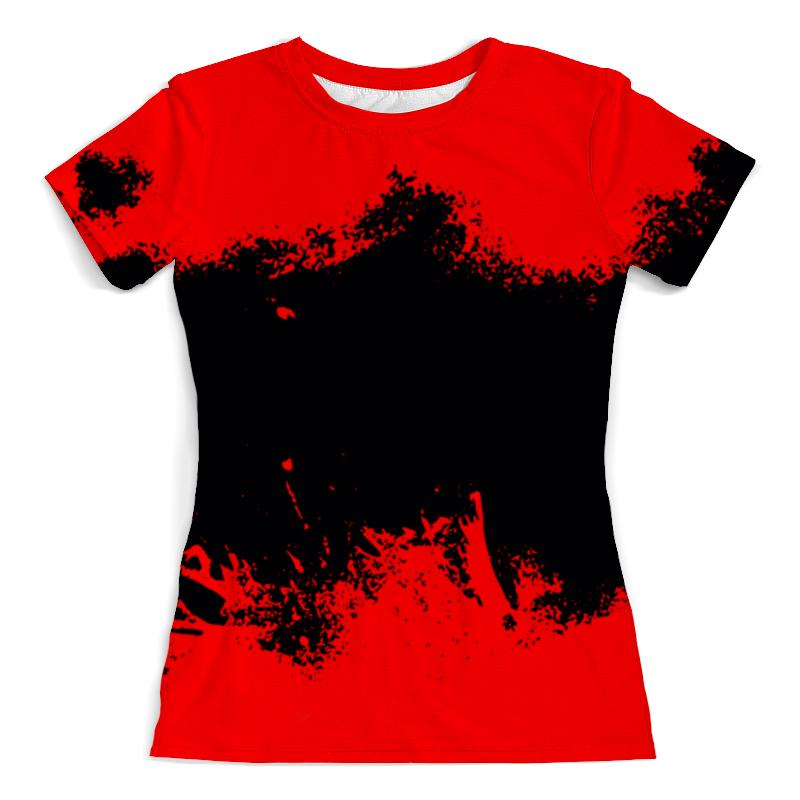 Printio Черно-красные краски футболка с полной запечаткой мужская printio красные краски