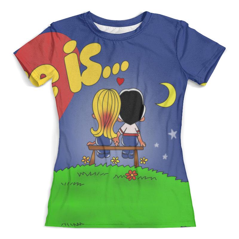 Футболка с полной запечаткой (женская) Printio Love is... футболка с полной запечаткой мужская printio love is