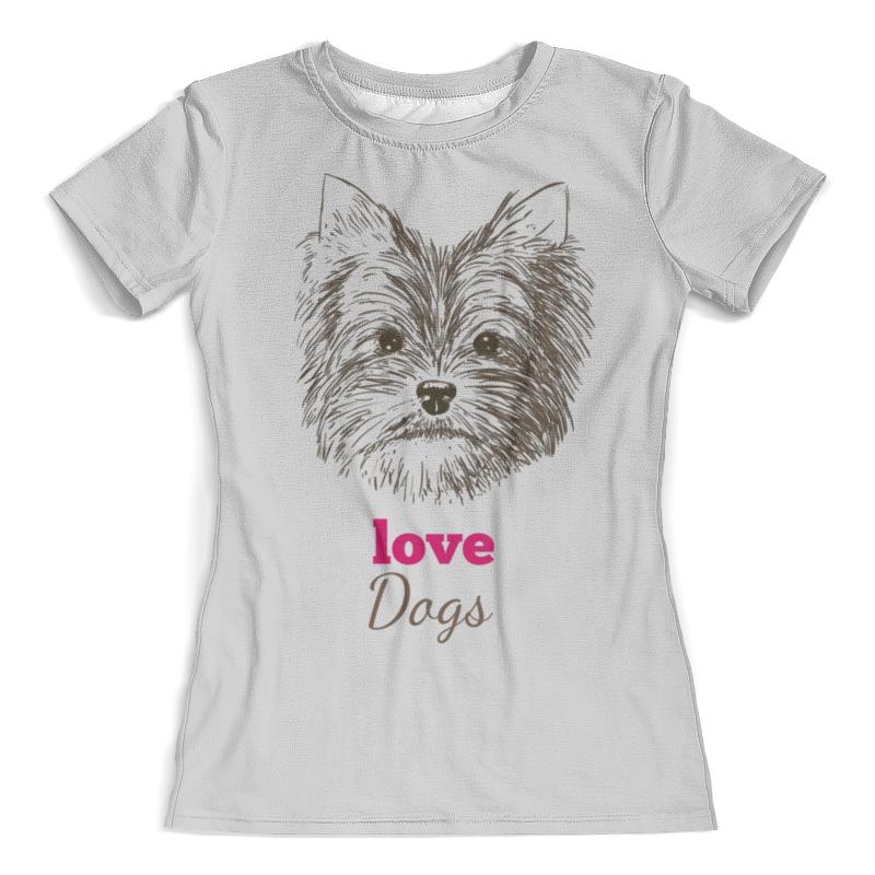Футболка с полной запечаткой (женская) Printio Я люблю свою собачку футболка с полной запечаткой женская printio я подарок