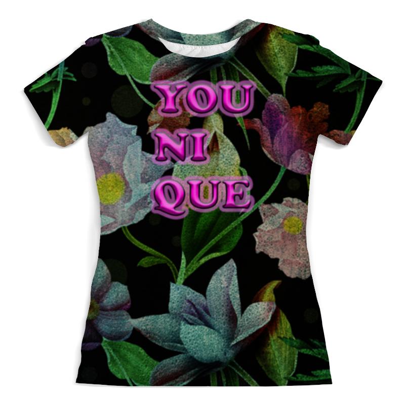Футболка с полной запечаткой (женская) Printio Younique футболка кто не хочет говорить с лавровым