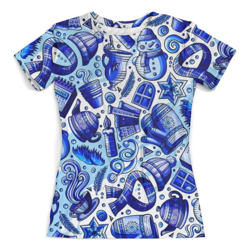Футболка с полной запечаткой (женская) Printio Новогодние праздники жен ожерелья с подвесками мода этнический перо кофейный красный синий 70cm ожерелье назначение праздники для улицы