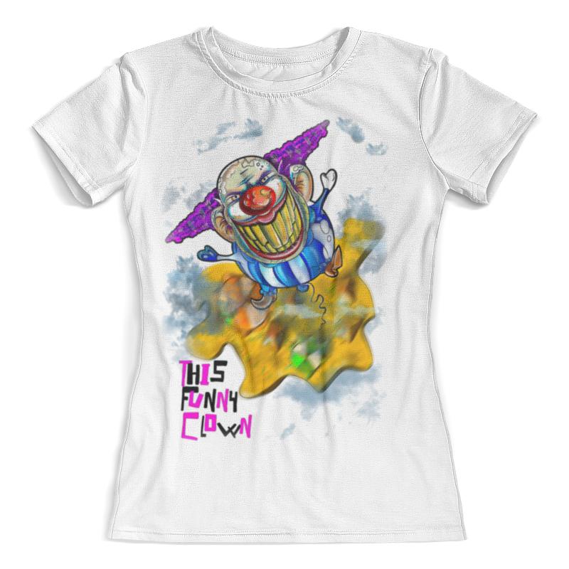 Футболка с полной запечаткой (женская) Printio Смешной клоун цена и фото