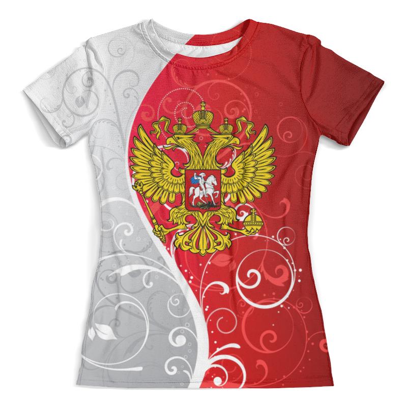 Футболка с полной запечаткой (женская) Printio Герб россии цена