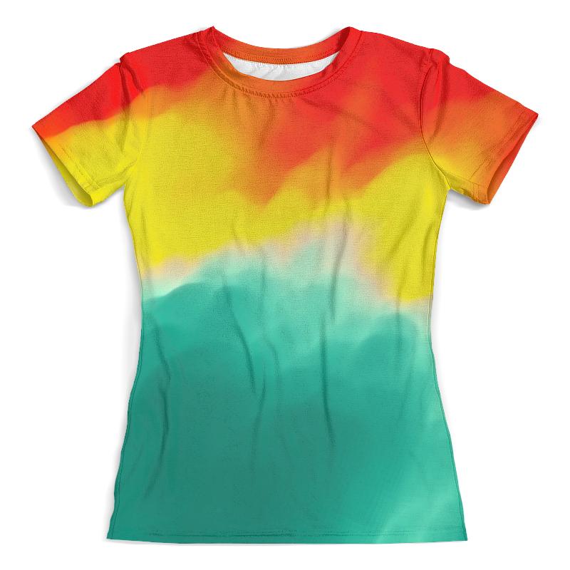 Футболка с полной запечаткой (женская) Printio Watercolor watercolor flower print shirt