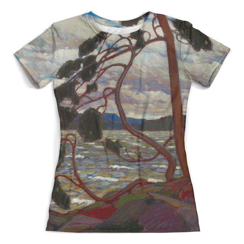 Футболка с полной запечаткой (женская) Printio Западный ветер (том томсон) футболка для беременных printio торонто мэйпл лифс