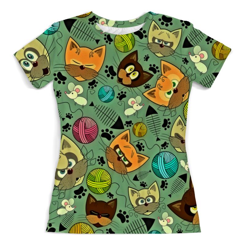 Printio Кот и мышь футболка с полной запечаткой женская printio кот и мышь