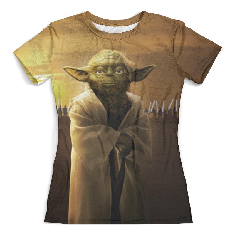 Футболка с полной запечаткой (женская) Printio Звездные войны - йода футболка стрэйч printio йода звездные войны