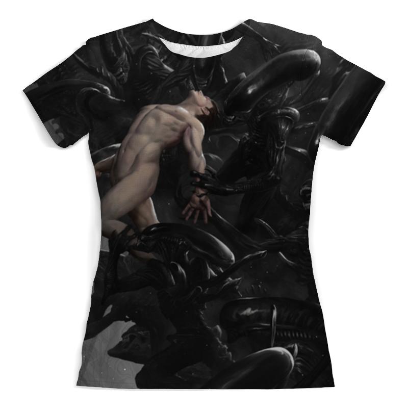 Футболка с полной запечаткой (женская) Printio Чужой / alien футболка с полной запечаткой женская printio alien чужой женская