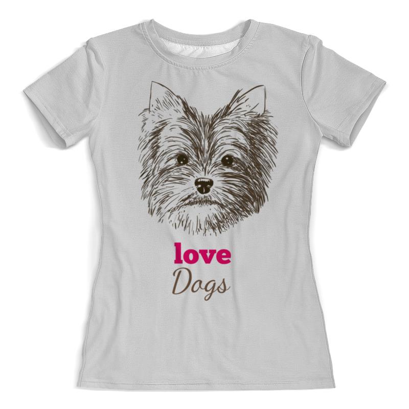 Printio Я люблю свою собачку футболка с полной запечаткой женская printio я люблю иисуса