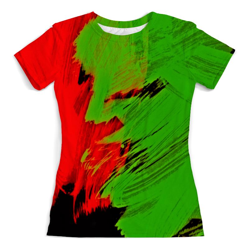 Футболка с полной запечаткой (женская) Printio Битва красок футболка с полной запечаткой женская printio битва огней кони айленд джозеф стелла